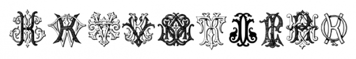 IntellectaMonograms IZKX Regular Font OTHER CHARS