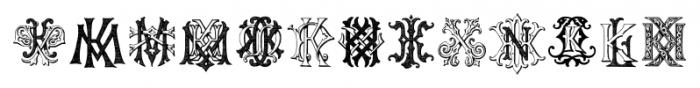 IntellectaMonograms IZKX Regular Font UPPERCASE