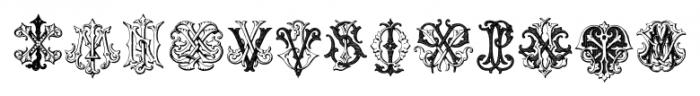 IntellectaMonograms IZKX Regular Font LOWERCASE