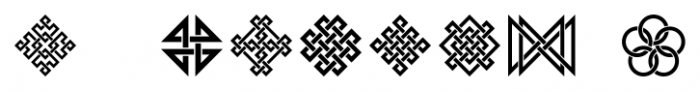 Interlaced Ornaments Regular Font OTHER CHARS