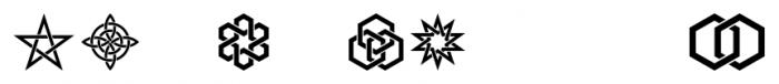 Interlaced Ornaments Regular Font UPPERCASE