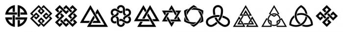 Interlaced Ornaments Regular Font LOWERCASE