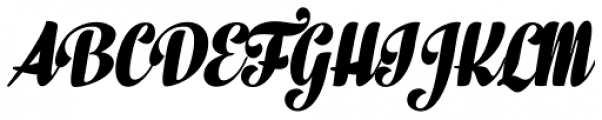 In And Out Black Italic Font UPPERCASE