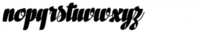 In And Out Black Italic Font LOWERCASE