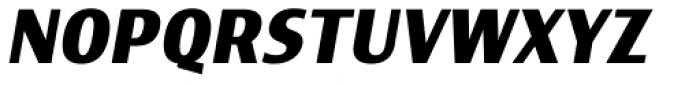 Indecise SemiCondensed  Semi Bold Italic Font UPPERCASE