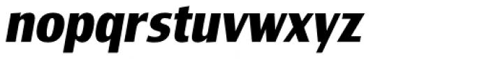 Indecise SemiCondensed  Semi Bold Italic Font LOWERCASE