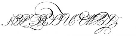 Indenture English Penman Font UPPERCASE