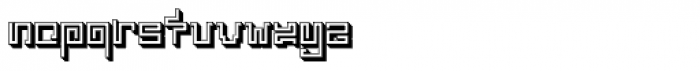 India Snake Pixel Labyrinth Game 3-D Font LOWERCASE