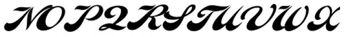 Indiana Script Font UPPERCASE