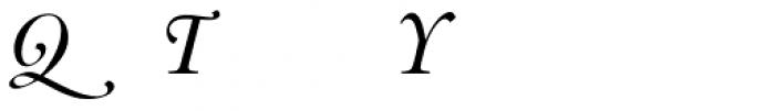 Indigo D Italic Alternate Font UPPERCASE