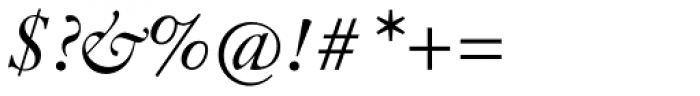 Indigo P Italic Oldstyle Figures Font OTHER CHARS