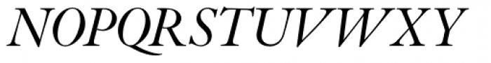 Indigo P Italic Oldstyle Figures Font UPPERCASE