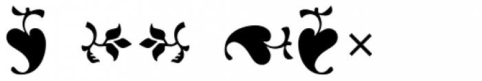Indigo P Regular Alternate Font OTHER CHARS