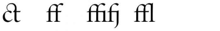 Indigo P Regular Alternate Font LOWERCASE