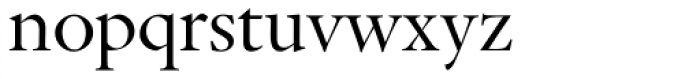 Indigo P Regular Oldstyle Figures Font LOWERCASE