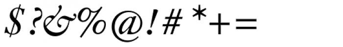 Indigo T Italic Oldstyle Figures Font OTHER CHARS