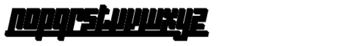 Indoo BT Shadow Italic Font LOWERCASE