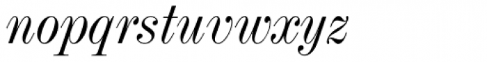 Industrial 736 Italic Font LOWERCASE