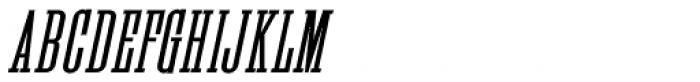 Industriality Oblique JNL Font UPPERCASE