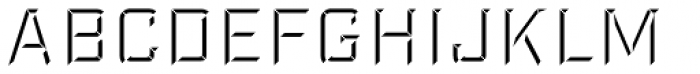 Industry Inc Bevel Fill Font LOWERCASE