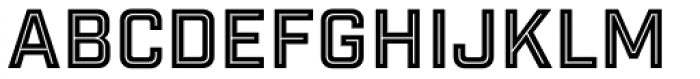 Industry Inc Inline Font LOWERCASE