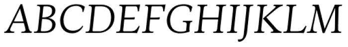 Ines Light Italic Font UPPERCASE