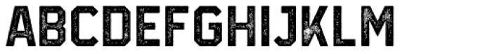 Infield Rough Font LOWERCASE