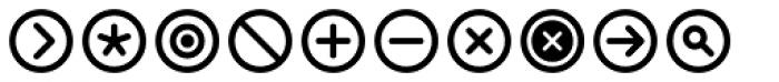 InfoBits Symbols Font UPPERCASE
