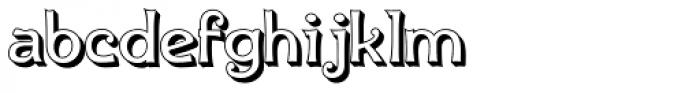 Ingone Shadow Font LOWERCASE