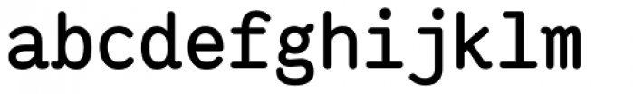 Ingrid Mono Bold Font LOWERCASE