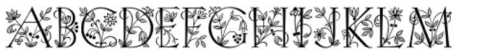 Initials RMU Four Font UPPERCASE