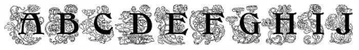Initials RMU Three Font UPPERCASE