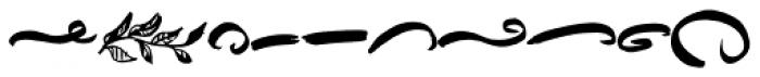 Ink Blank Underlines Font LOWERCASE