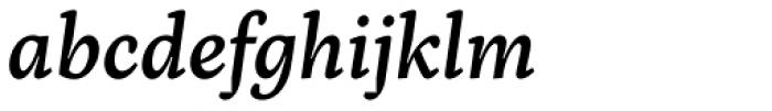 Inka A Small Medium Italic Font LOWERCASE