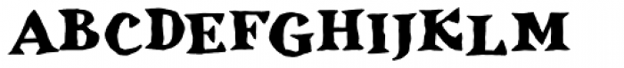 Inkcantation BB Bold Font UPPERCASE