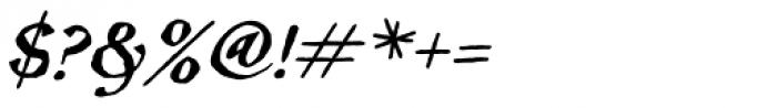 Inkcantation BB Italic Font OTHER CHARS