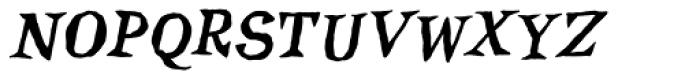 Inkcantation BB Italic Font UPPERCASE