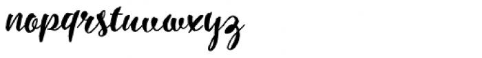 Inkheart Brush Font LOWERCASE