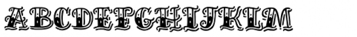 Inkheart Circus Shadow Font LOWERCASE