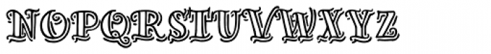 Inkheart Sailor Outline Shadow Font LOWERCASE