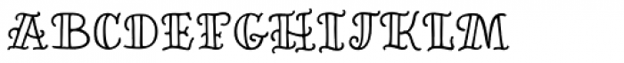 Inkheart Sailor Outline Font LOWERCASE