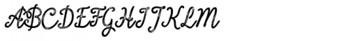 Inkheart Script Printed Font UPPERCASE