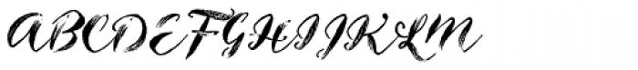 Inkheart Wide Brush Dry Font UPPERCASE