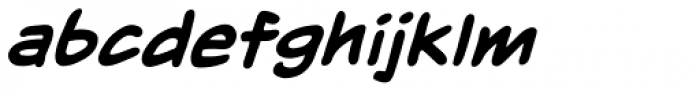 Inkslinger LC BB Bold Italic Font LOWERCASE