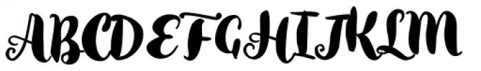 Inkston Brush Font UPPERCASE