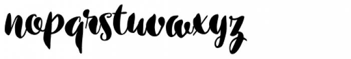 Inkston Brush Font LOWERCASE