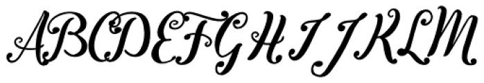 Inkston Script Font UPPERCASE
