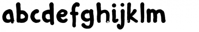 Inky Fingers Font LOWERCASE