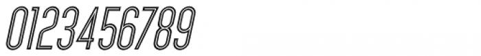 Inline Retro JNL Oblique Font OTHER CHARS