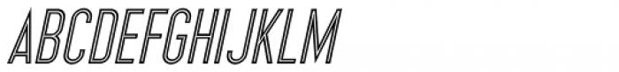 Inline Retro JNL Oblique Font UPPERCASE